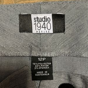 Studio 1940 12P Black n White Trousers Like New